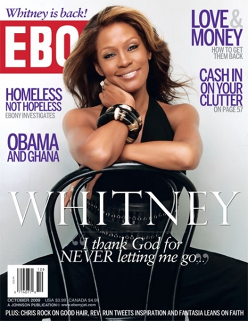 Whitney Houston Ebony Cover