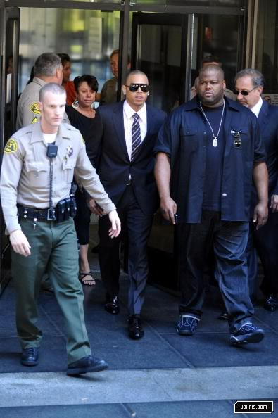 Chris Brown Leaving Court
