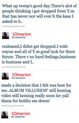 Omarion Twitter Pic