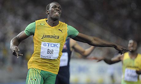 Usain Bolt 200m Pic