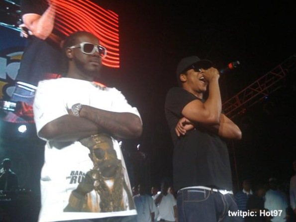 Jay-Z & T-Pain At Summer Jam