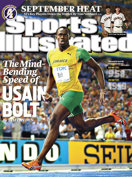 Usain Bolt Sports Illustrated Cover